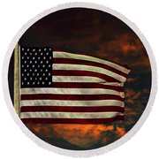 Round Beach Towel featuring the photograph Twilight's Last Gleaming by David Dehner