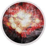 Twin Flames Round Beach Towel by Absinthe Art By Michelle LeAnn Scott