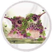 Twin Hummers Round Beach Towel