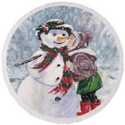 Twinkle In His Eye Round Beach Towel