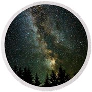 Twinkle Twinkle A Million Stars  Round Beach Towel