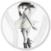 Twirl Round Beach Towel