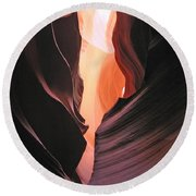 Twisted Canyon Round Beach Towel
