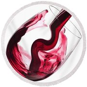 Twisted Flavour Red Wine Round Beach Towel