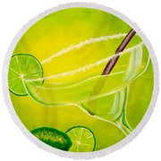 Twisted Margarita Round Beach Towel