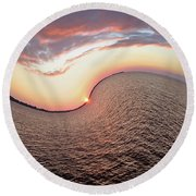 Twisted Sunset Round Beach Towel by Aimee L Maher Photography and Art Visit ALMGallerydotcom