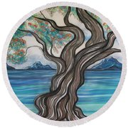 Twisted Tree Round Beach Towel