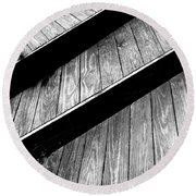 Twisted View Round Beach Towel