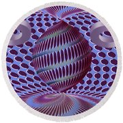 Twisted Round Beach Towel
