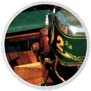 Two And Three Quarters Hp Muncie Outboard Motor Round Beach Towel by Michelle Calkins