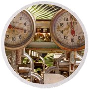 Two Farm Scales Round Beach Towel