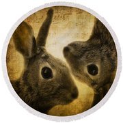 Two Hares Round Beach Towel