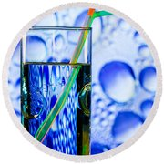 Round Beach Towel featuring the photograph Two In Bubbles by Edgar Laureano
