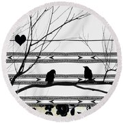 Two Is Better Round Beach Towel