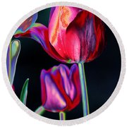 Two Lips 4 You Round Beach Towel