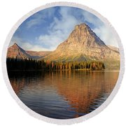 Round Beach Towel featuring the photograph Two Medicine by Marty Koch