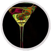 Round Beach Towel featuring the digital art Two Olive Martini by Dragica  Micki Fortuna