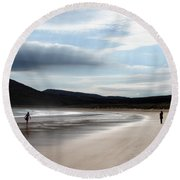 Two On A Beach Round Beach Towel