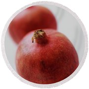 Two Pomegranates Round Beach Towel