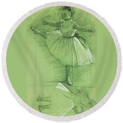 Two Studies For Dancers Round Beach Towel