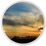 Two Suns Over Kentucky Round Beach Towel
