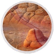 Two Tone Rock Round Beach Towel