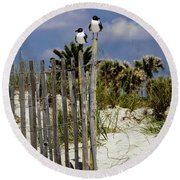 Two's Company Round Beach Towel