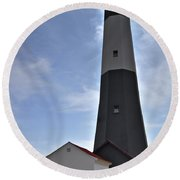 Round Beach Towel featuring the photograph Tybee Island Lighthouse by Deborah Klubertanz