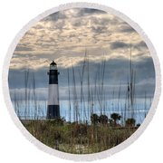 Tybee Light Round Beach Towel