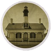 Tybee Lighthouse Round Beach Towel