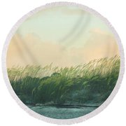 Round Beach Towel featuring the photograph Tybee Sunrise by Jessica Brawley