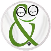 Typographical Frog Round Beach Towel