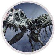 Tyrannosaurus Jane Round Beach Towel