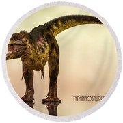 Tyrannosaurus Rex Dinosaur  Round Beach Towel