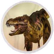 Tyrannosaurus Rex Dinosaur  Round Beach Towel by Bob Orsillo