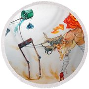 Tyrants Of Desire Round Beach Towel