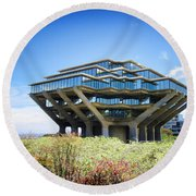 Round Beach Towel featuring the photograph Ucsd Geisel Library by Nancy Ingersoll