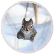 Is Winter Over Yet Round Beach Towel by Heather King