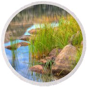 Uinta Reflections Round Beach Towel by Dustin  LeFevre