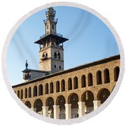 Umayyad Mosque In Damascus Syria Round Beach Towel