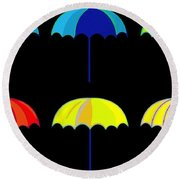 Umbrella Ella Ella Ella Round Beach Towel