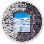 A Window On The World Round Beach Towel