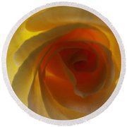 Round Beach Towel featuring the photograph Unaltered Rose by Robyn King