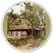 Round Beach Towel featuring the photograph Uncle Toms Cabin Brookhaven Mississippi by Michael Hoard