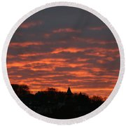 Round Beach Towel featuring the photograph Under A Blood Red Sky by Neal Eslinger