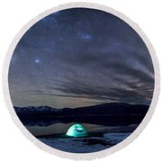 Under Big Skies Round Beach Towel by Aaron Aldrich
