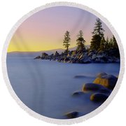 Under Clear Skies Round Beach Towel