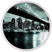 Under The Bridge Round Beach Towel by Pennie  McCracken