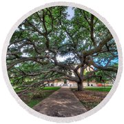 Under The Century Tree Round Beach Towel