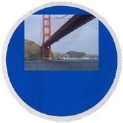 Under The Golden Gate - San Francisco Golden Gate Bridge 2006 - Scenic Photography - Ai P. Nilson Round Beach Towel